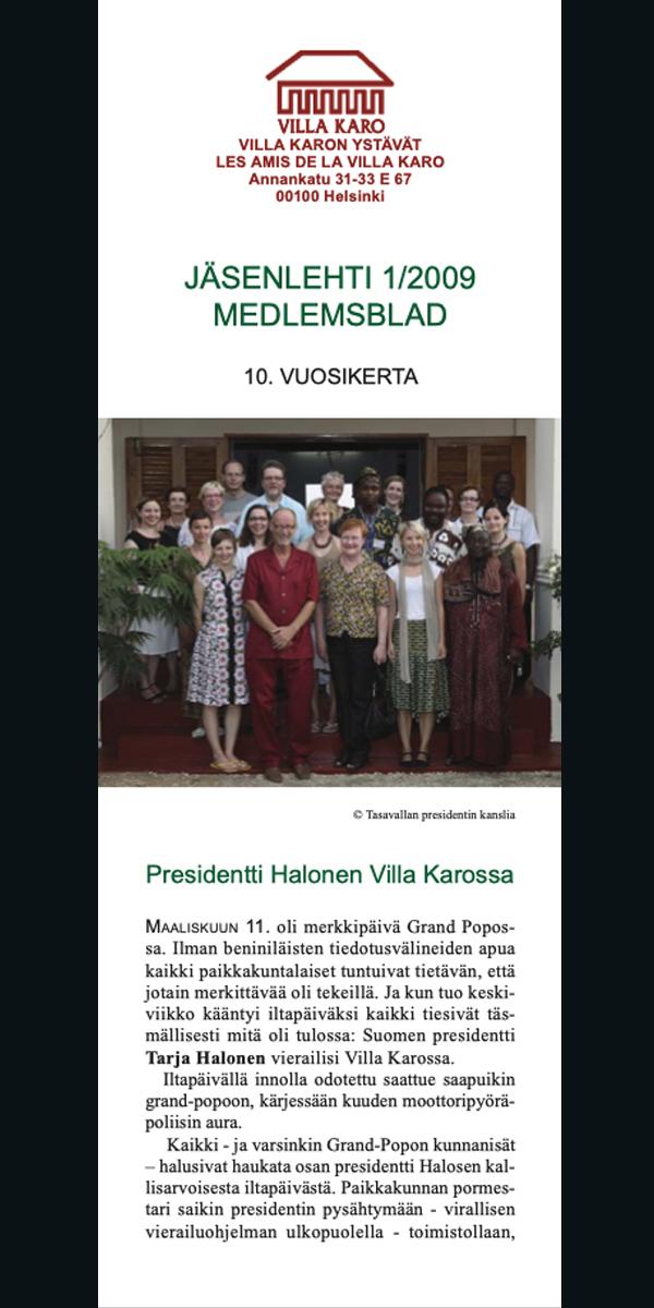 Jäsenlehti 1-2009
